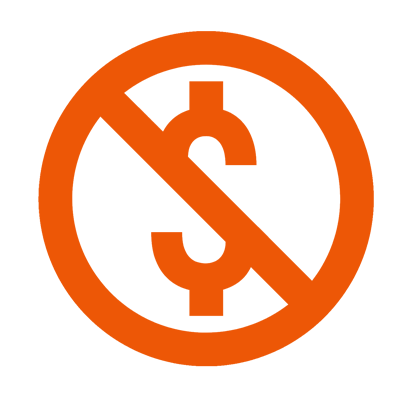 No online booking fees icon
